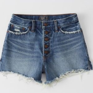 Abercrombie High-Rise Denim Shorts